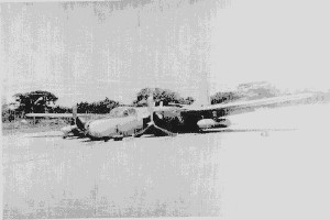 Douglas TB-26 FAG-420 after a wheels up landing at JMMadd (Photo taken from CIA s declassified papers)