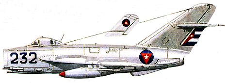 MiG-17AS N°232 of Eduardo Guerra