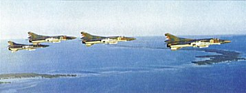 Escuadrilla de MiG-23MF con misiles R-60 y R-24 -Foto del Air & Space Power Journal